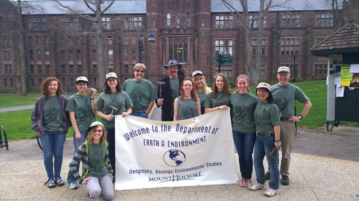 Mhc Geologists Show Off Their New Shirts. T-Shirt Photo