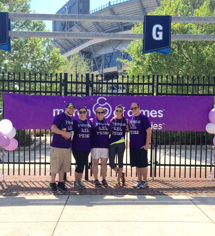 March For Babies Team Tough Lil Tikes T-Shirt Photo