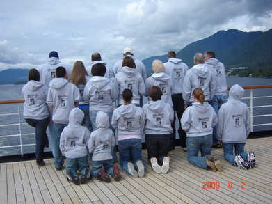 Walker 50th Wedding Anniversary Alaskan Family Cruise T-Shirt Photo