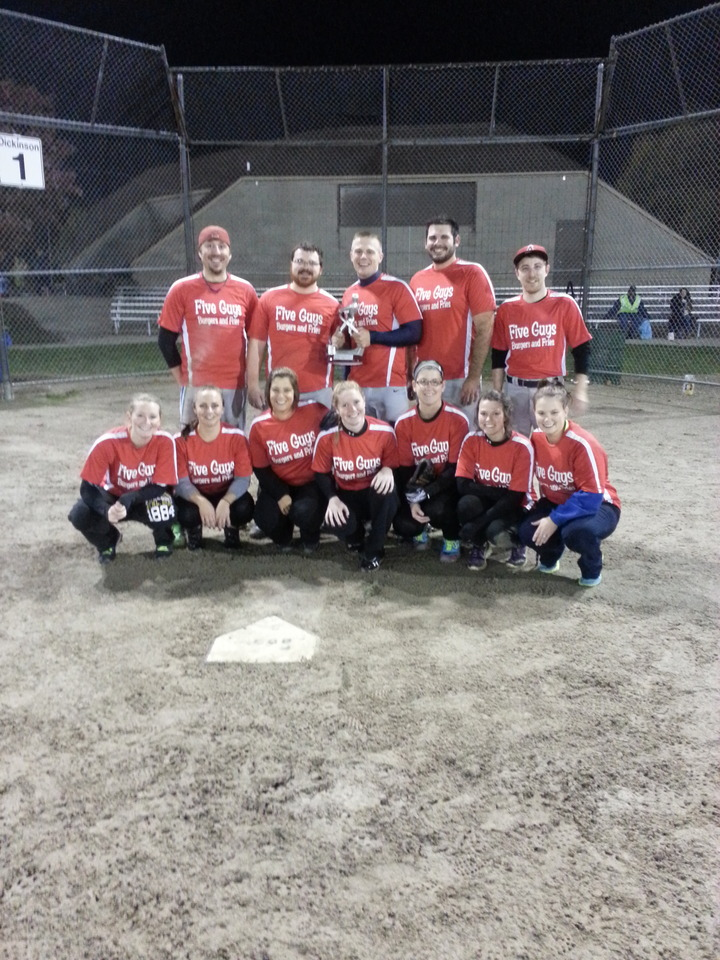 Five Guys Burgers And Fries Co Ed Softball T-Shirt Photo