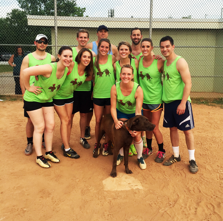Brown Chicken Brown Cow Kickball Team T-Shirt Photo