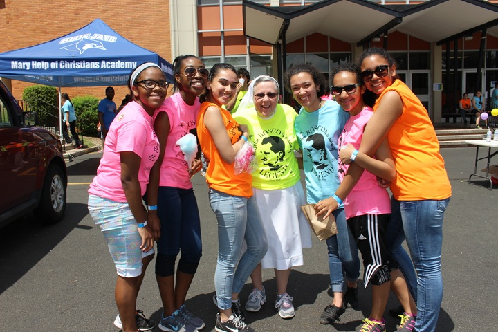 Mary Help Of Christians Academy Celebrates St. John Bosco's 200th Birthday With Neon Custom Ink Shirts & A Carnival! T-Shirt Photo
