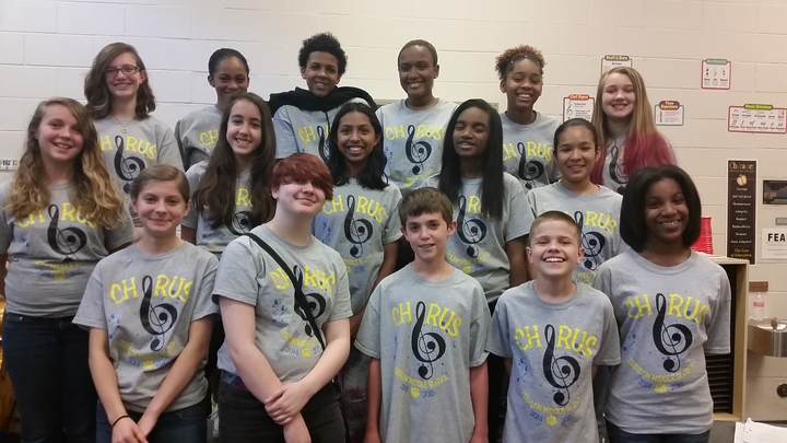 Zebulon Middle School Chorus T-Shirt Photo