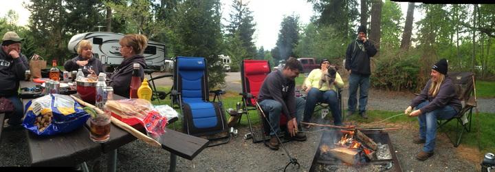 Alder Lake Washington State Lets Roll Em Camping Club T-Shirt Photo