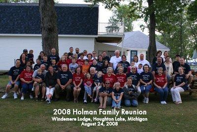 2008 Holman Family Reunion T-Shirt Photo