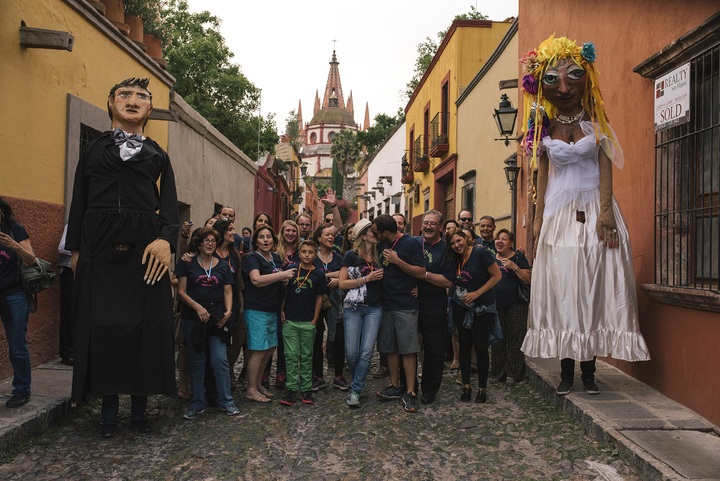 Callejoneada At San Miguel De Allende T-Shirt Photo
