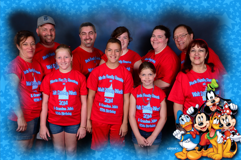 The Morin Family Reunion At Disney World T Shirt Photo