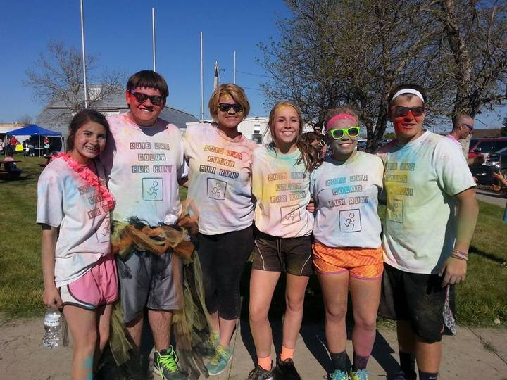When Life Hands You Color...Run With It! T-Shirt Photo