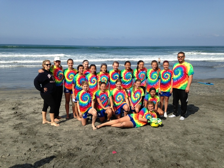 Getting Ready To Play Some Soccer At The Beach Soccer Championships! T-Shirt Photo