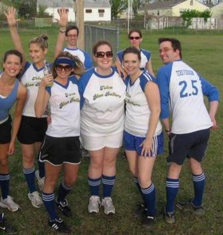 The Tulsa Blue Ballers After Receiving Their New Jerseys! T-Shirt Photo