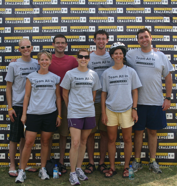 Team All In At The Livestrong Challenge   Philly 2008 T-Shirt Photo