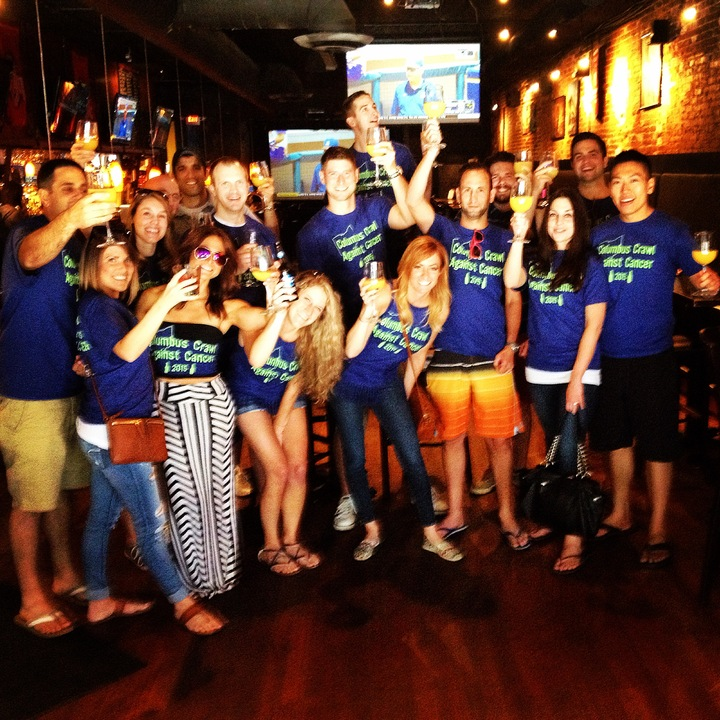 Columbus Crawl Against Cancer! T-Shirt Photo