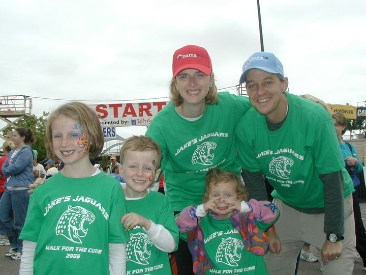Jake's Jaguars   Walk For Cure Of Diabetes T-Shirt Photo