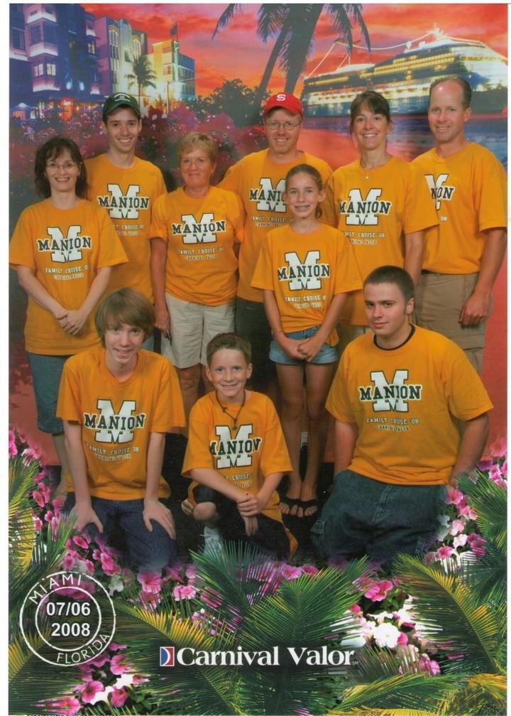 Manion Family Cruise 08 T-Shirt Photo