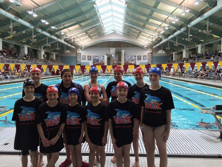 Wask Swim Team Swims At The University Of Minnesota Sporting Their Custom Ink! T-Shirt Photo