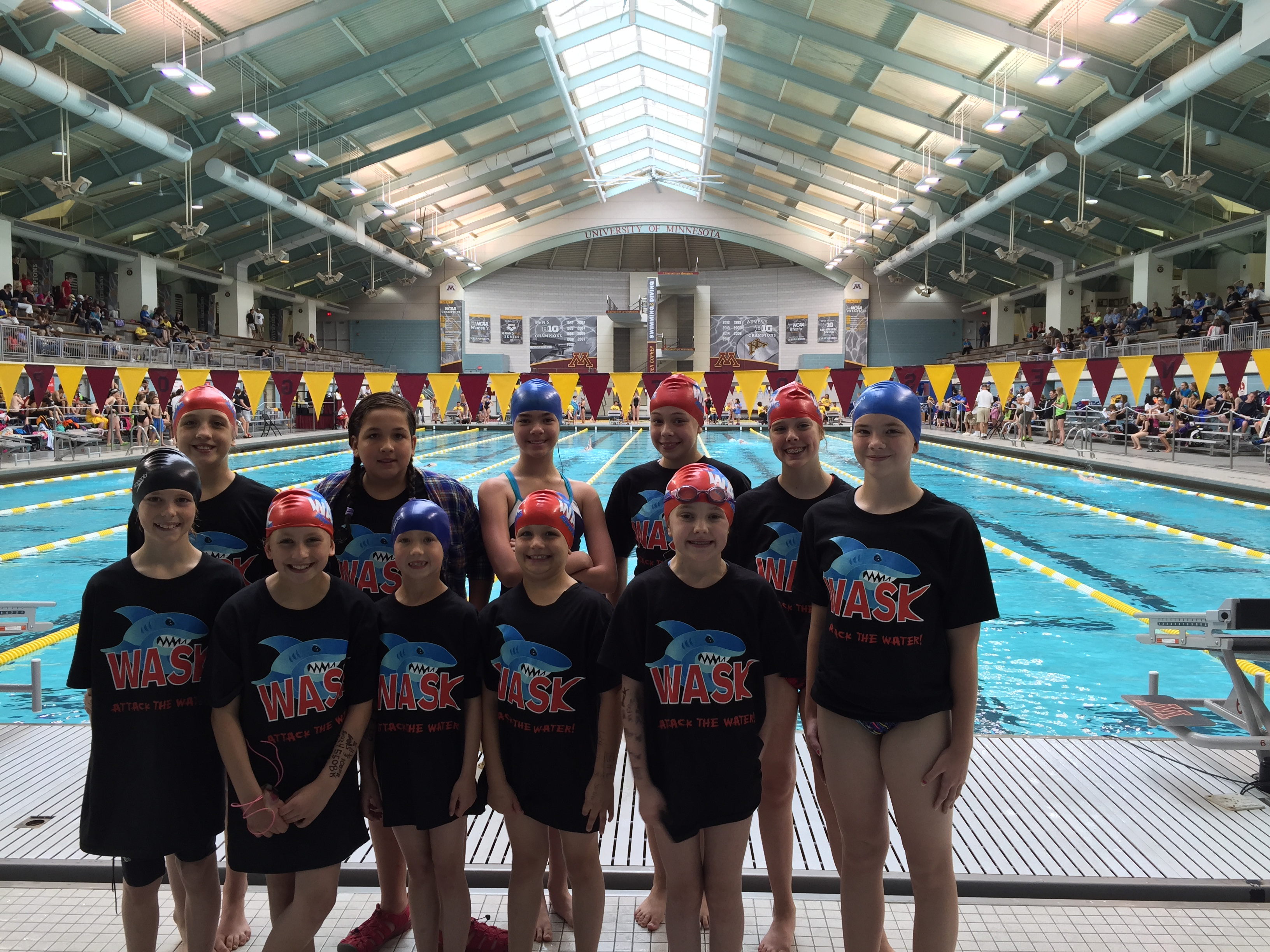 9d57ed858 Custom T-Shirts for Wask Swim Team Swims At The University Of ...