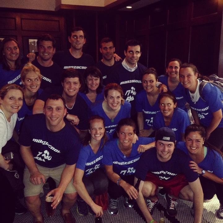 Wall Street Run And Heart Walk 2015   Team Man Zo Cool T-Shirt Photo