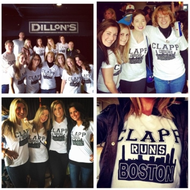 Meghan Clapp Runs The Boston Marathon  T-Shirt Photo