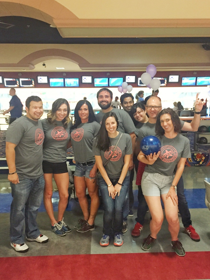 Team Impressa Bowling To Benefit Homeless Youth T-Shirt Photo