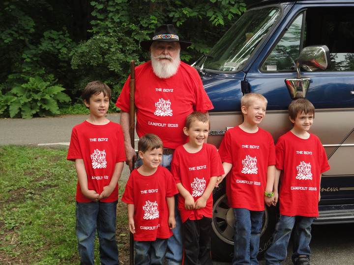 Camping With Pops! T-Shirt Photo