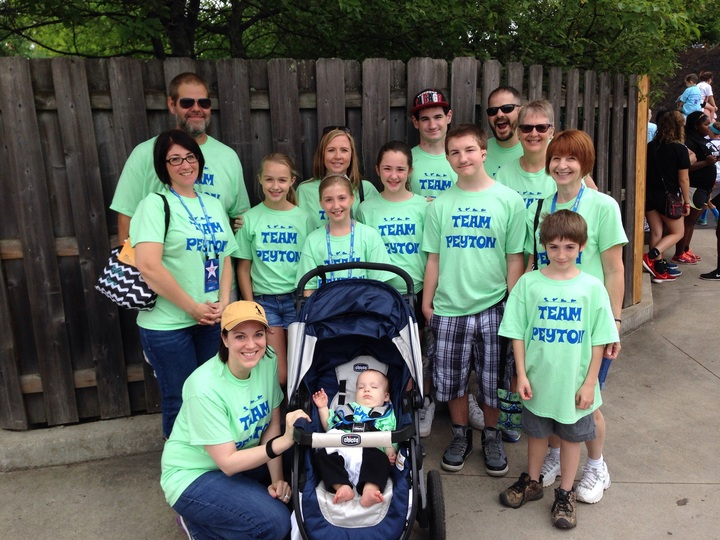 Team Peyton   2015 Jdrf One Walk T-Shirt Photo