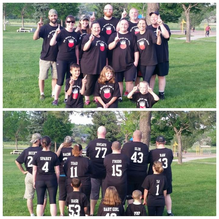 For Jiggles And Kicks Kickball Team T-Shirt Photo