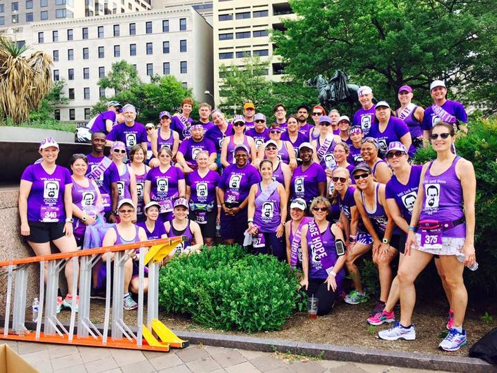With Luck From Chuck Purple Stride 2015 T-Shirt Photo