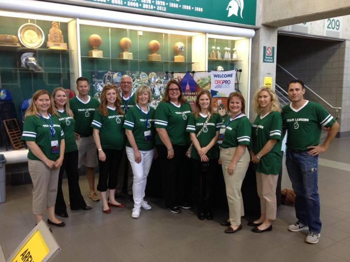 Team Lansing Ready To Show Some Spartan Spirit! T-Shirt Photo