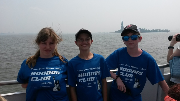Lady Liberty: In The Harbor & On The Shirts! T-Shirt Photo