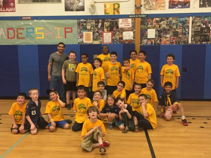 Pack 94 Cub Scouts From Rockland County, Ny At Physical Fitness Night.  T-Shirt Photo