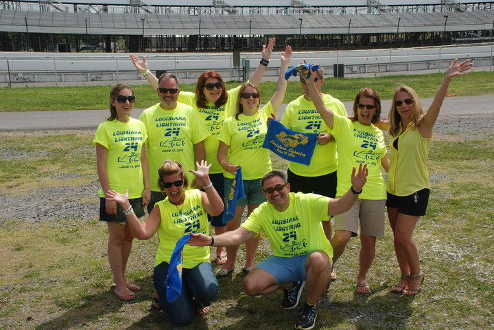 Louisiana Lightning At The Race Track! T-Shirt Photo