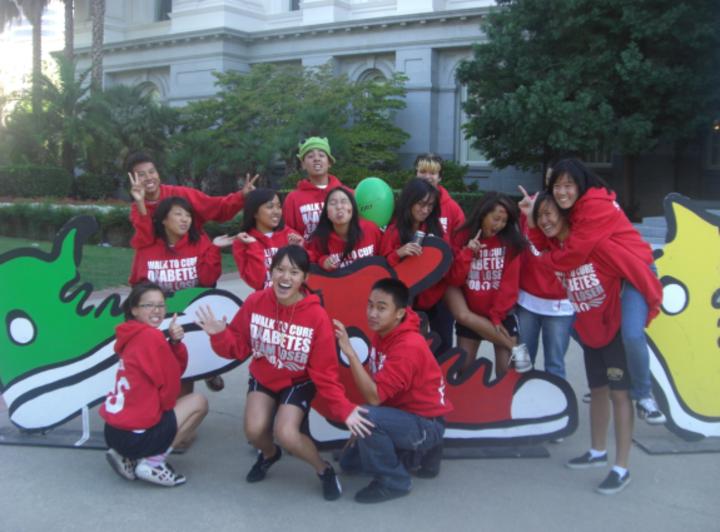 Walk To Cure Diabetes   Team Loser. T-Shirt Photo
