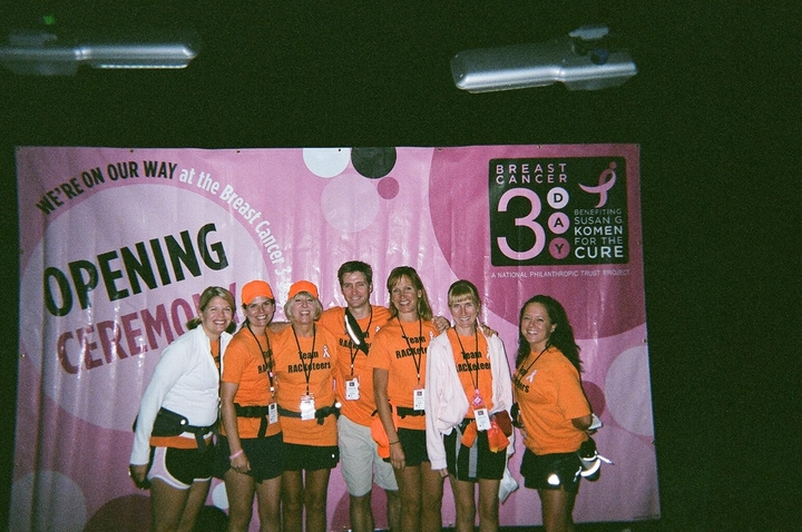 Team Rac Keteers At The Breast Cancer 3 Day T-Shirt Photo
