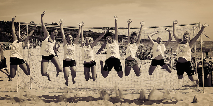 Soccer In The Sand   Champions T-Shirt Photo