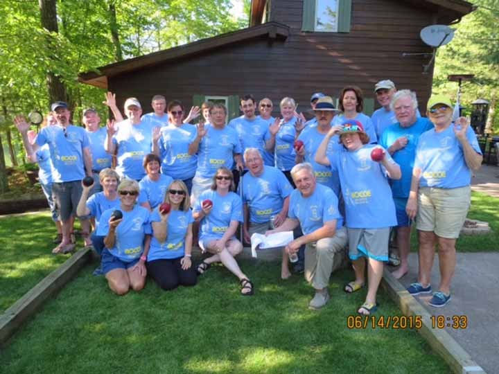 Pike Lake Chain Bocce Gang! T-Shirt Photo