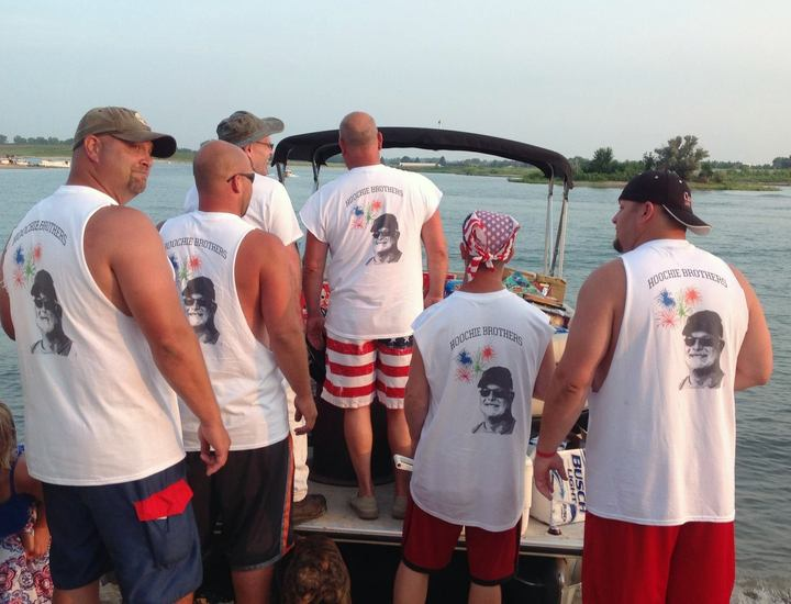 Hoochie Brothers Fireworks Show 2015 T-Shirt Photo