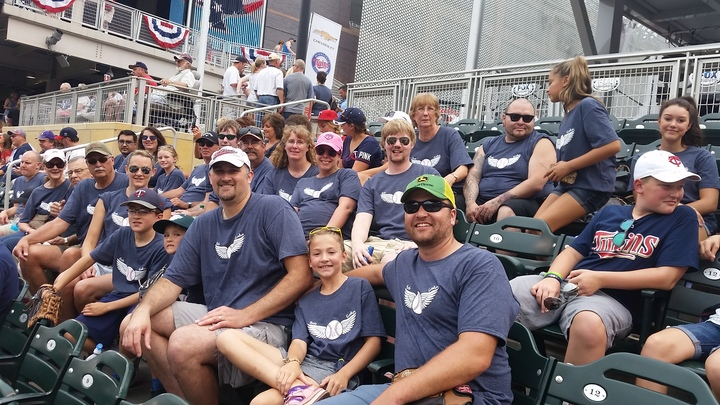 Hendrickson Family At The Minnesota Twins Game T-Shirt Photo