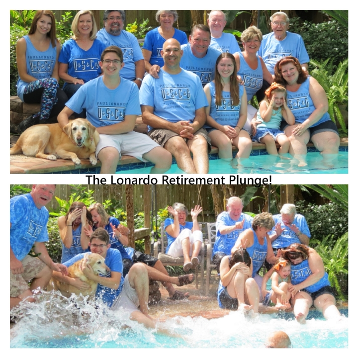 Lonardo Retirement Plunge! T-Shirt Photo