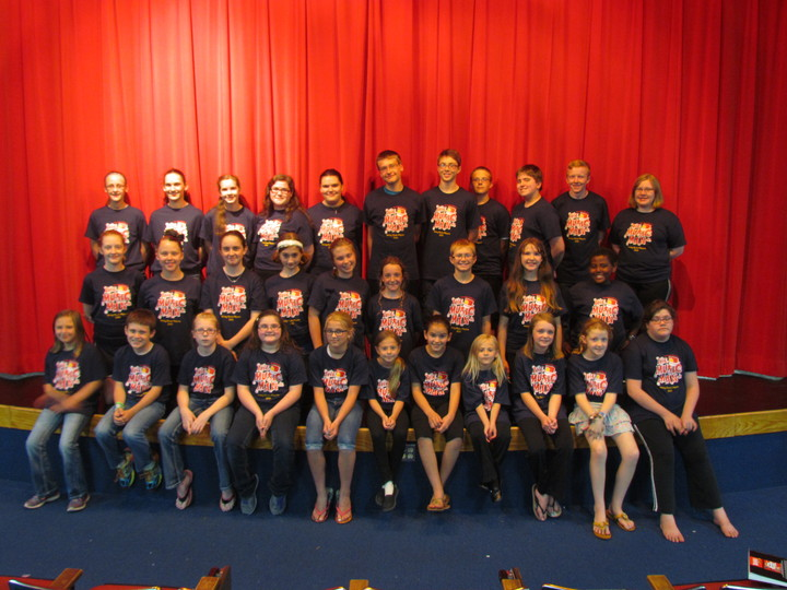 The Cast Of The Music Man, Jr. T-Shirt Photo