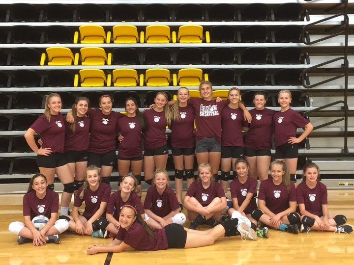 Elko Volleyball At The Csi Volleyball Camp T-Shirt Photo