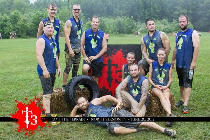 Indy Mud Dawgz After The Tame The Terrain Race!  T-Shirt Photo