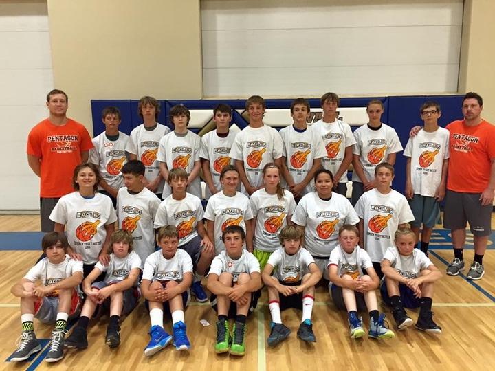 Wall Eagle Summer Basketball #Summertogetbetter T-Shirt Photo