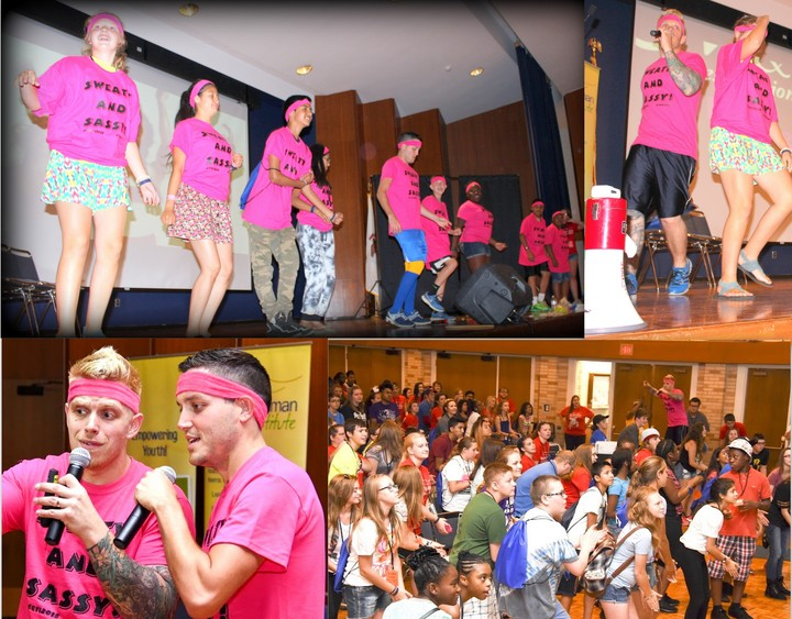 500 Teen Leaders Get Sweaty And Sassy With Custom Ink Shirts And 80's Aerobics! T-Shirt Photo