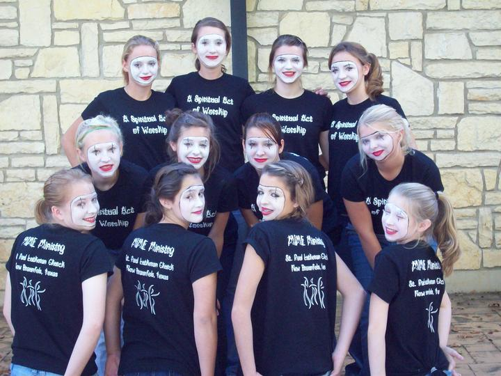 St. Paul Lutheran Mime Ministry T-Shirt Photo
