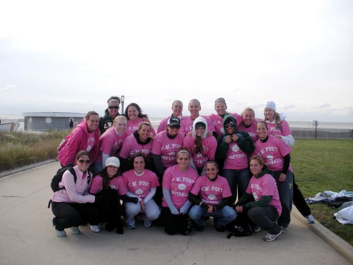 C.W. Post Softball Walks For Breast Cancer T-Shirt Photo