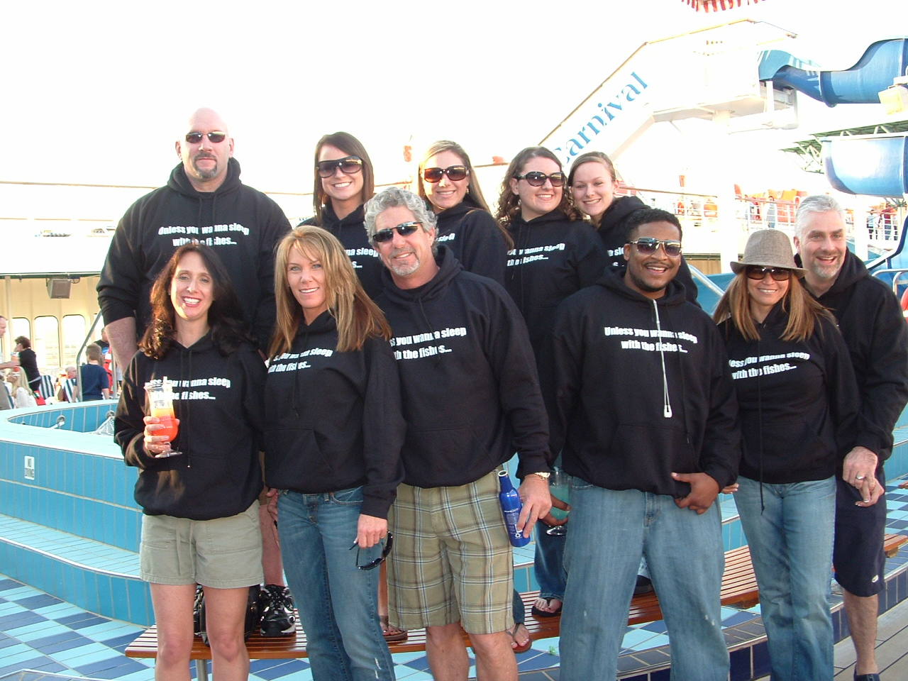 50th Birthday Cruise In Our Custom Ink T Shirt Photo