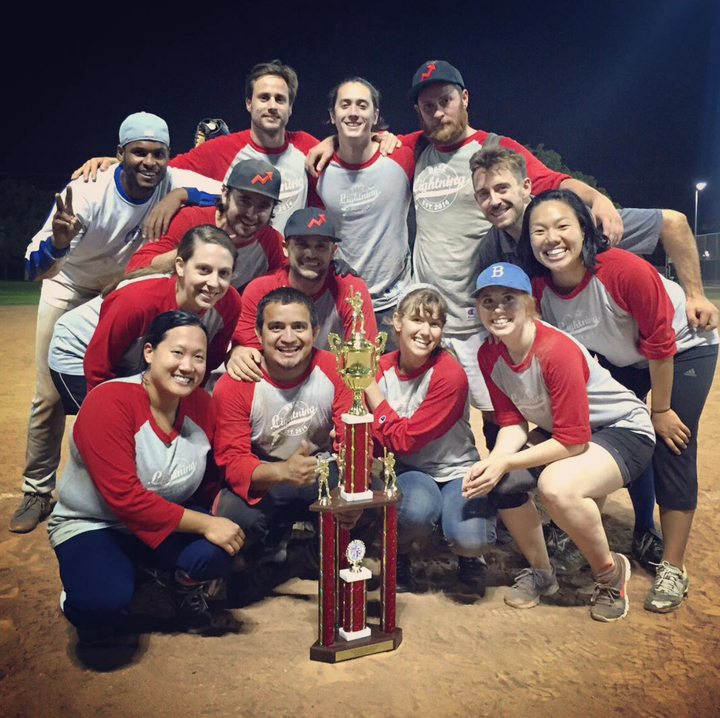 Buzz Lightning, Buzz Feed La's Softball Team T-Shirt Photo