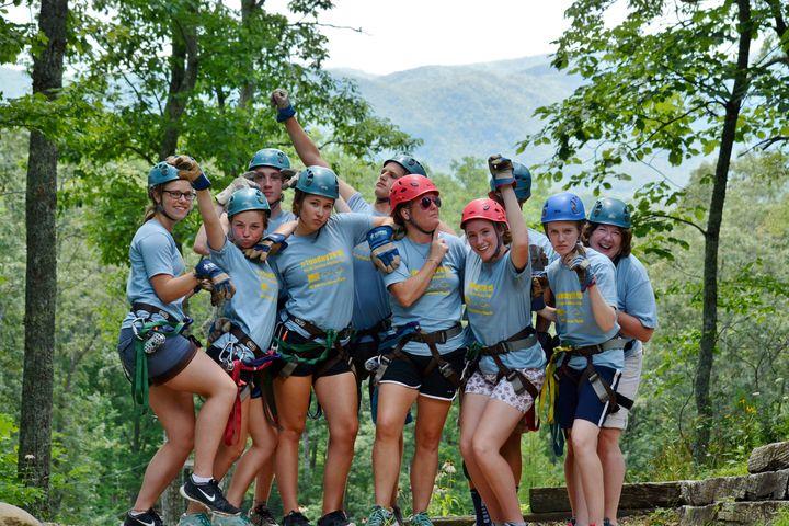 Ziplining In Smoky Mountains T-Shirt Photo
