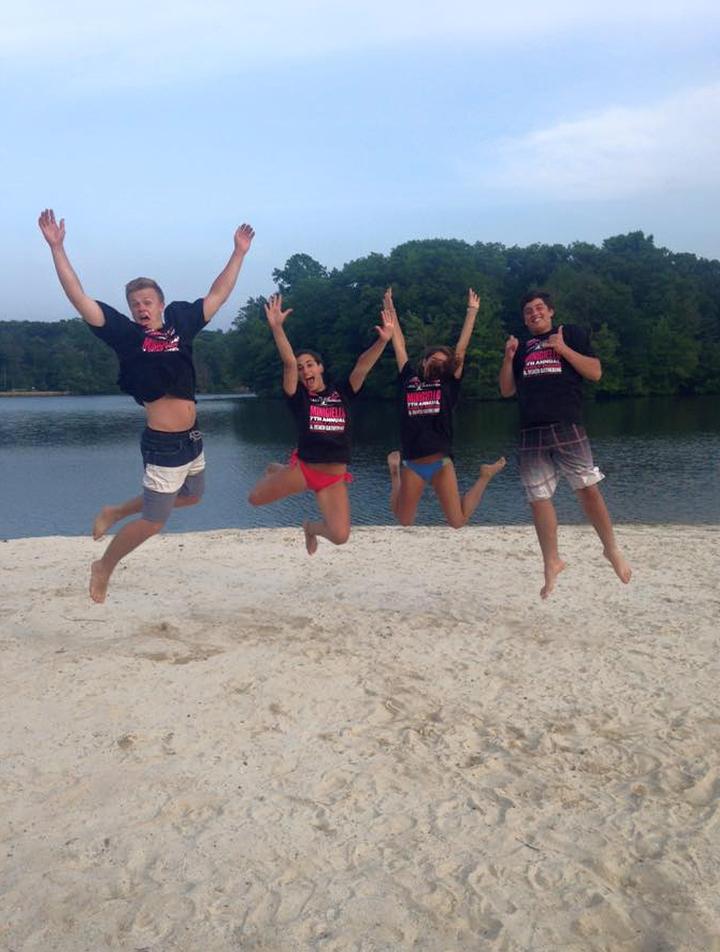 Leaping At The Lake T-Shirt Photo