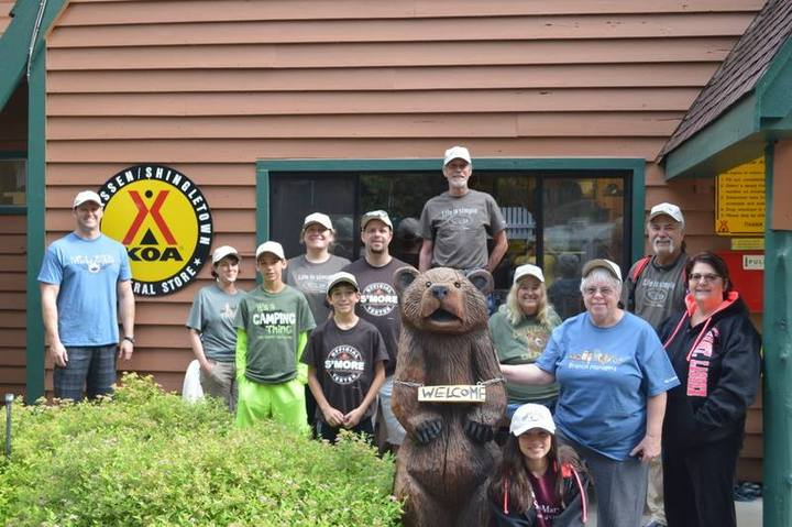 Hiker's Unite' At Koa Lassen T-Shirt Photo